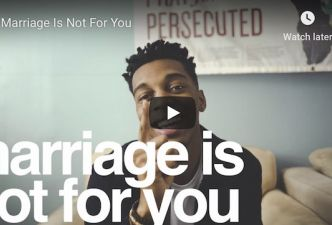 Read Marriage is not for you