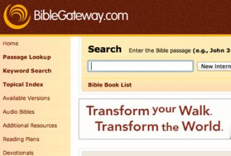 Read Using biblegateway.com in your next Bible Study
