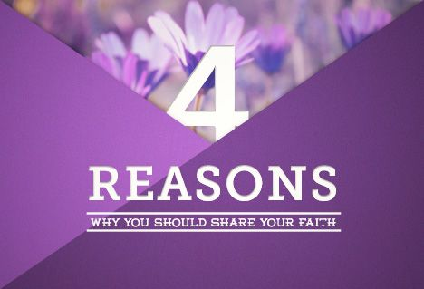 Image: 4 reasons why you should share your faith