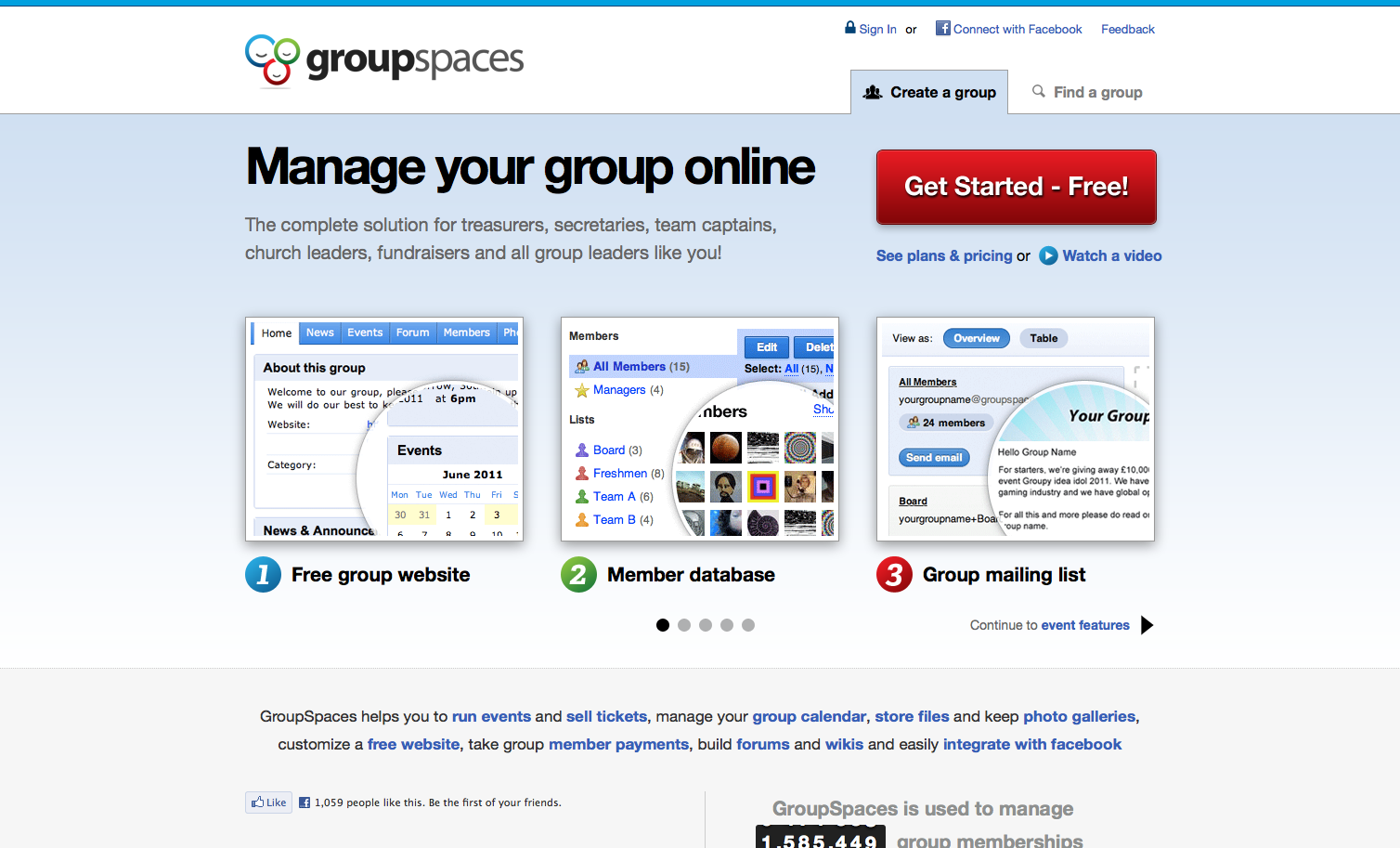 Group Spaces